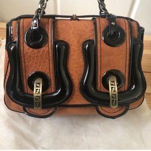 Fendi Double B Nappa Leather Bag